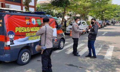 Polres Lebak menyediakan Posko Mobile agar bisa keliling untuk menjangkau semua warga masyarakat dalam membagikan masker mewujudkan kepatuhan