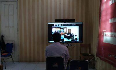 Lapas Pemuda Kelas IIA Tangerang turut berpartisipasi dalam pelaksanaan sidang berbasis online kepada para Warga Binaan Pemasyarakatan