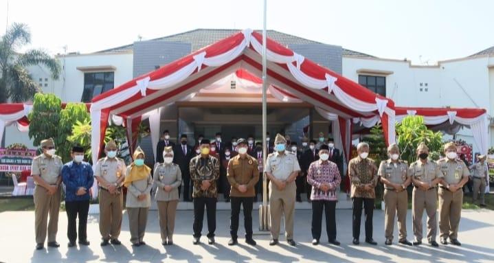Kantor Wilayah (Kanwil) Badan Pertanahan Nasional (BPN) Provinsi Banten mengikuti upacara peringatan Hari Agraria dan Tata Ruang Nasional