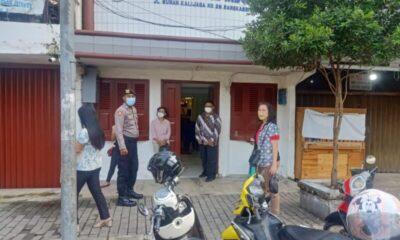 antisipasi gangguan Kamtibmas, Sat Samapta Polres Lebak melakukan patroli dan pengamanan gereja - gereja di wilayah Kota Rangkasbitung
