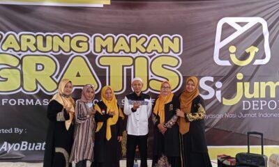 Yayasan Nasi Jumat (Sijum) meluncurkan program Warung Makan gratis bagi masyarakat umum di Jalan Ir Juanda nomor 47 Kota Depok