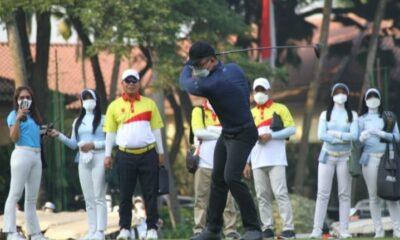 (Wagub) Banten, Andika Hazrumy membuka turnamen golf bertajuk Banten Open Golf Tournament yang digelar oleh Persatuan Golf Indonesia (PGI)