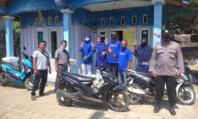 Pelaksanaan monitoring kampanye Pilkades dilaksanakan oleh Kanit Binmas di Kecamatan Pagelaran menjelang pelaksanaan Pemilihan Kepala Desa