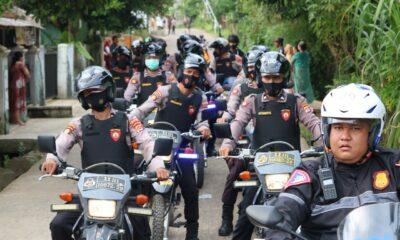 Jelang Pemilihan Kepala Desa (Pilkades) serentak, Polres Pandeglang melaksanakan patroli malam secara mobile untuk menjaga situasi Kamtibmas