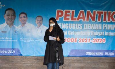 Partai Gelombang Rakyat Indonesia (Gelora) melantik kepengurusan partai di wilayah Kabupaten Banyuwangi yang dihadiri Bupati Banyuwangi