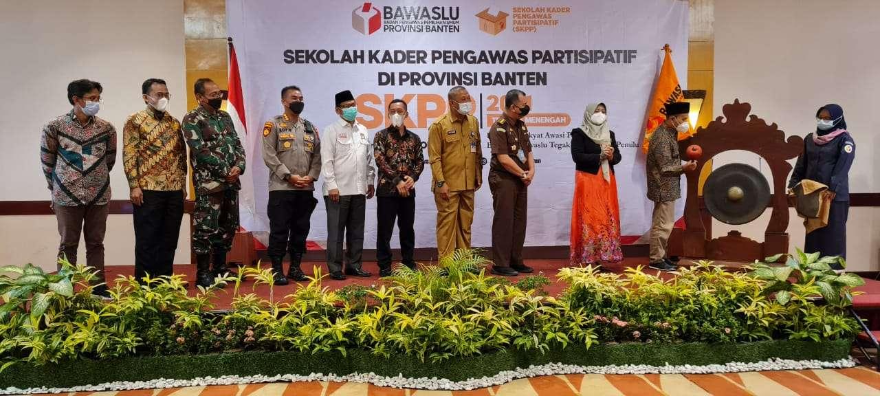 Dirpamobvit Polda Banten AKBP Edy Sumardi mewakili Kapolda Banten dalam acara pembukaan Sekolah Kader Pengawas Partisipatif (SKPP)