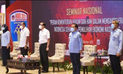 """Kementerian Hukum dan HAM menyelenggarakan Seminar Nasional """"Peran Kementerian Hukum dan HAM dalam mengakselerasi Indonesia Sehat"""