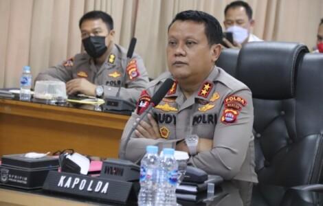 Kapolda Banten IJP Dr. Rudy Heriyanto menyampaikan penanganan oknum Brigadir NP akan ditangani oleh Bidpropam Polda Banten